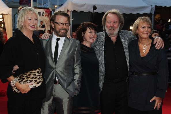 Judy Craymer, Björn, Catherine Johnson, Benny and Phyllida Lloyd