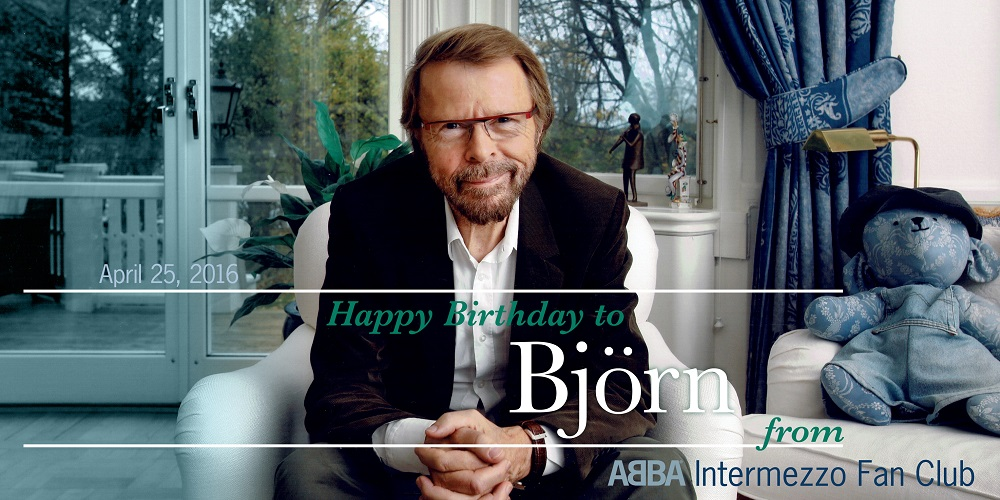 Birthday greetings to Björn