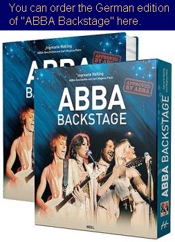 Book 'ABBA Backstage' by Ingmarie Halling