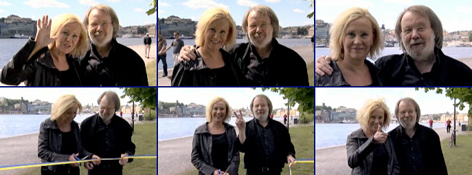 Agnetha and Benny's videotaped ABBAWORLD greeting