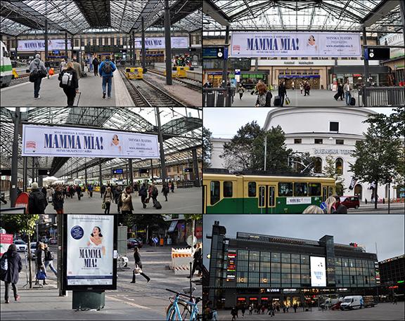 Mamma Mia! promotion in Helsinki