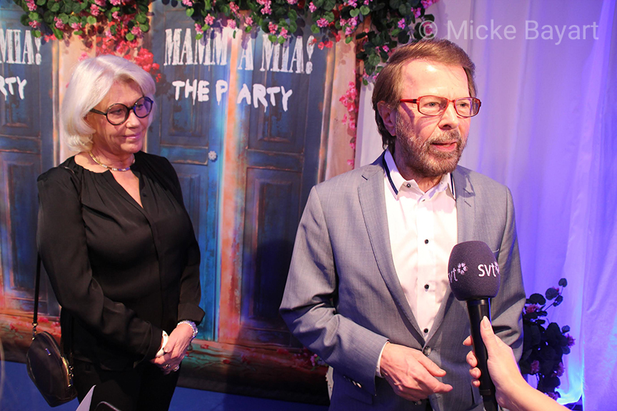 Björn und Lena bei Mamma Mia! The Party