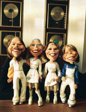 The ABBA puppets from 'Our Last Video Ever' - Photo: Joakim Strömholm